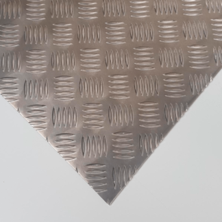 Aluminio lagrimado damero
